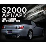 FULL TITANIUM CAT STRAIGHT PIPE KIT EXPREME Ti AP1 AP2 TB6100 HN04A 3