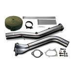 STRAIGHT DOWN PIPE KIT EXPREME EJ SINGLE SCROLL GR GV GE GH VA Ver 2 w TITAN BANDAGE TB6060 SB02B 1