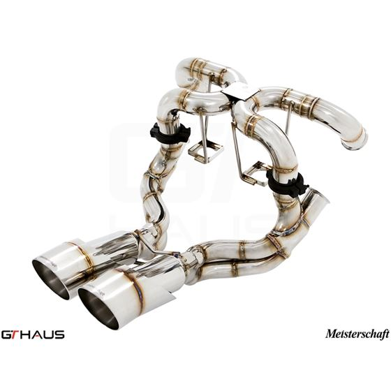 GTHAUS Super GT Racing Exhaust- Stainless- LA022-3