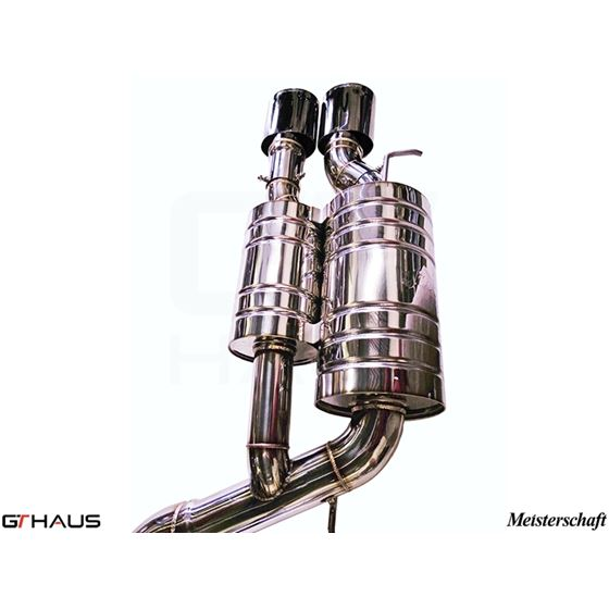GTHAUS GT Racing Exhaust- Stainless- BM1711216-3