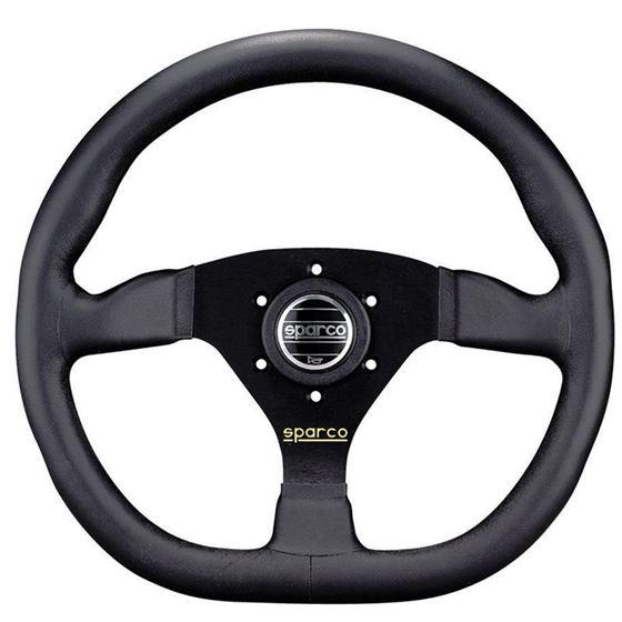Sparco L360 Racing Steering Wheel, Black Leather (
