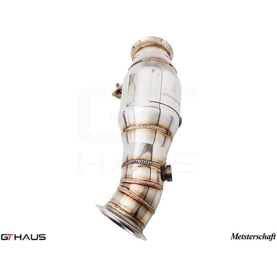 GTHAUS Turbo Back Down Pipe - no cat- Stainless-3