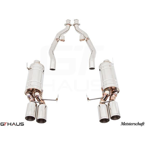 GTHAUS GT Racing Exhaust- Stainless- BM1911204-3