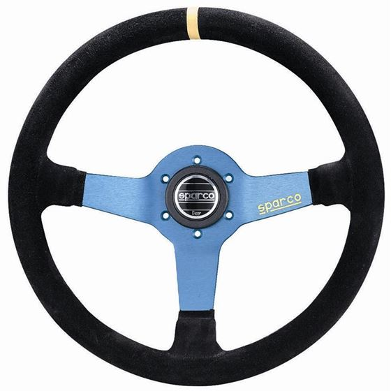 Sparco L550 Racing Steering Wheel, Blue Suede (015
