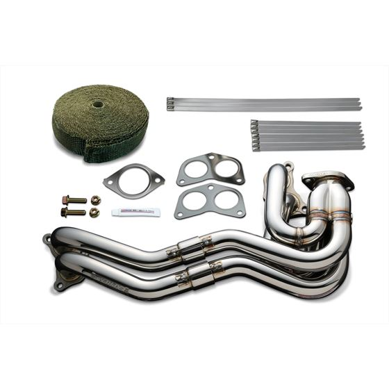 EXHAUST MANIFOLD KIT EXPREME FA20 ZN6 ZC6 UNEQUAL LENGTH with TITAN EXHAUST BANDAGE TB6010 SB03B 1