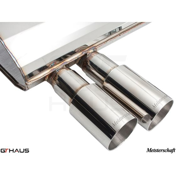 GTHAUS GT Racing Exhaust- Stainless- BM0331201-3