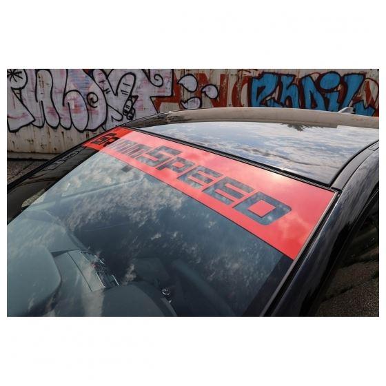 GrimmSpeed Windshield Banner RED - 43in/Subaru Uni