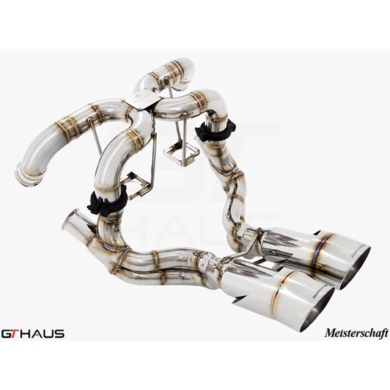 GTHAUS Super GT Racing Exhaust- Stainless- LA02114