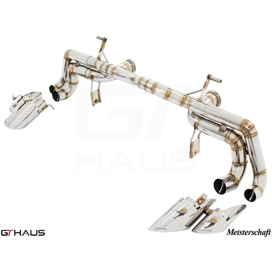 GTHAUS Super GT Racing Exhaust- Stainless- LA041-3