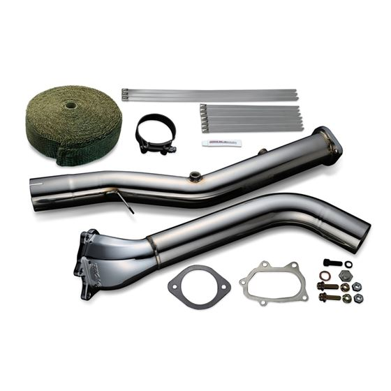 STRAIGHT DOWN PIPE KIT EXPREME EJ SINGLE SCROLL GD Ver 2 with TITAN EXHAUST BANDAGE TB6060 SB02A 1