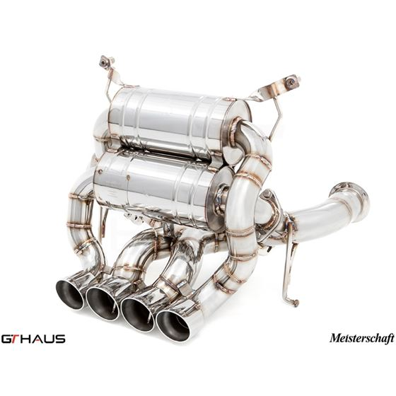 GTHAUS Super GT Racing Exhaust- Stainless- LA031-3